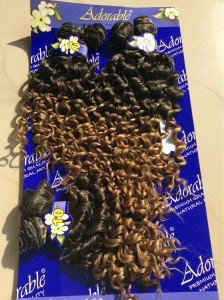 "Adorable water wave 10""12""14"" inches 6 pieces weave"
