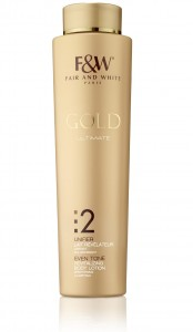 F&W Fair and White Gold  2 Even Tone Brightening Revitalizing Body Lotion 500ml