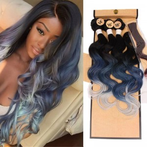 Brazilian Natural Wave With Free Closure Synthetic  Human Hair Quality