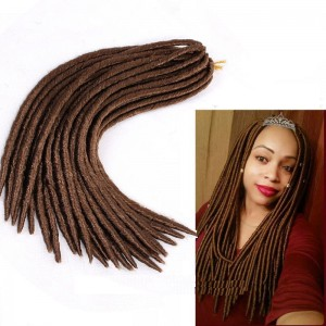 18  Inches Soft Synthetic Dreadlocks Crochet Faux Locs