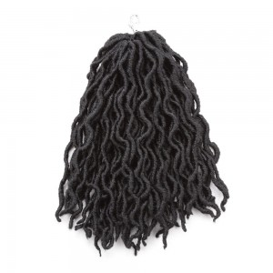 18 Inches New Wave Synthetic Deep Curl Faux Locs Curly Crochet Braiding