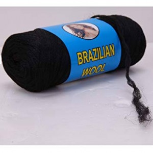 Brazilian Wool Black Color