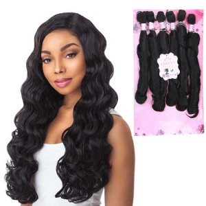 "Frelyn Long Body Wave With Closure 16"" 18"" 20"" Black - One Pack Solution"