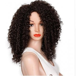 16 Inches Afro Kinky Curly Synthetic Heat Resistant African Fluffy Hairstyle Wig