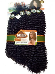 Noble Gold Super Faye Synthetic Hair Weave Color 1 - All You Need Is One Pack