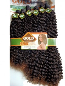 Noble Gold Super Faye Synthetic Hair Weave Color TB/27 - All You Need Is One Pack