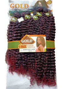 Noble Gold Super Faye Synthetic Hair Weave Color TB/Dark Red - All You Need Is One Pack