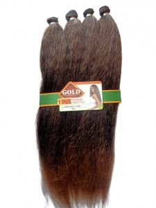 Noble Gold Super Cora Synthetic Hair Weave 24 Inches Color T1B/27 - All You Need Is One Pack