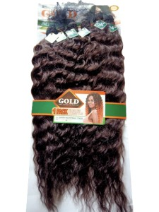 Noble Gold Super Valentina Synthetic Hair Weave Color 4 - All You Need Is One Pack