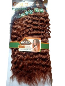 Noble Gold Super Valentina Synthetic Hair Weave Color 30 - All You Need Is One Pack