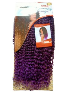Noble Gold Wendy Synthetic Hair Weave Color T4/Grape Purple