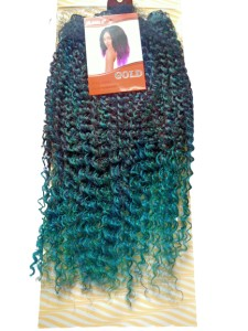Noble Gold Wendy Synthetic Hair Weave Color T1B/Green