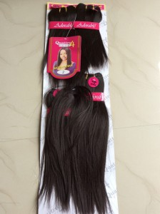 "Adorable Quattro Yaki Wave With Closure -  4 in 1 8"" 10"" 12"" 14"""