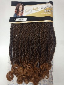 Bela Collection Curly Twist Crochet Braid - Color T2/27