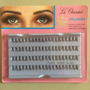 La Charme Eyelashes - Flare Under Black 100% Human Hair