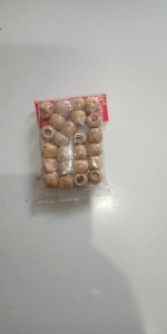 Wooden Hair Beads 24 Pieces